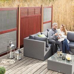 Sichtschutzzaun Set 1 (Holz, Mahagoni Braun)Bauhaus.info #mediarooms