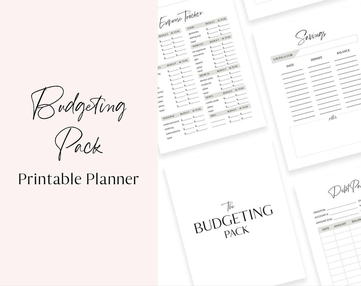 Printable Budget Planner Finance Organizer Planner