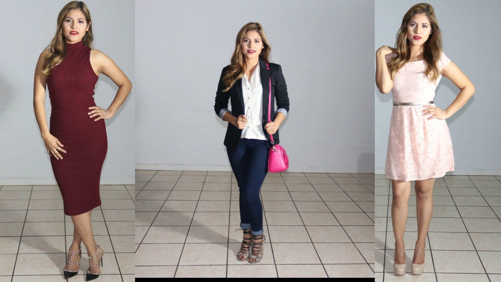 3 Outfits Para San Valentin\Valentines Day Outfits