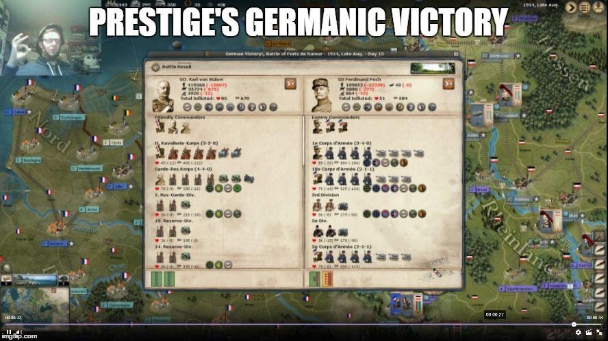 Prestige's Germanic victory