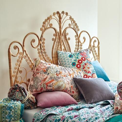 Natural Wicker Headboard | World Market | This Is Where The Magic ...