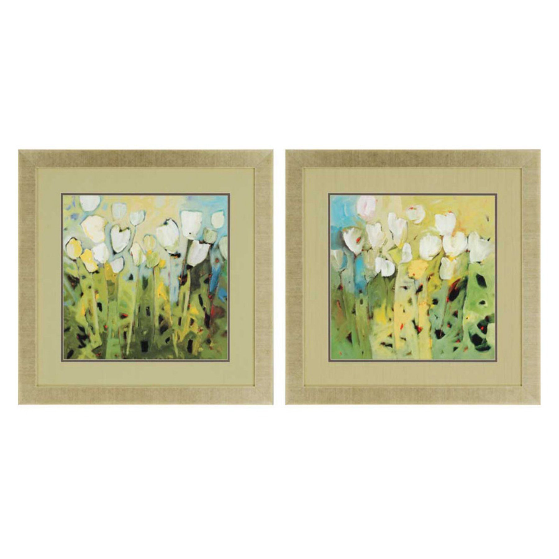 Paragon Decor White Tulips Framed Wall Art - Set of 2 - 3350 | Wall ...