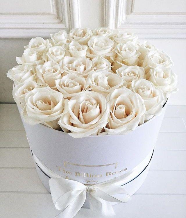 The billion roses white roses bouquet flowers pinterest the billion roses white roses bouquet hat box flowersbox mightylinksfo