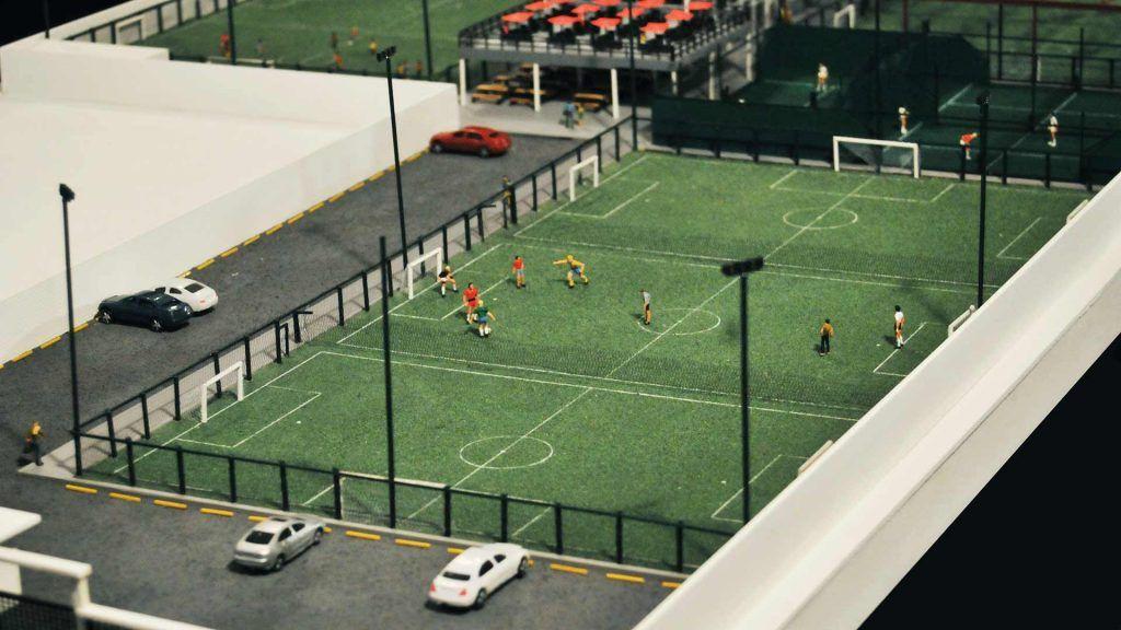 Complejo Deportivo Estacion 98 Maquetas Msh Complejos Deportivos Cancha De Futbol Cancha Sintetica