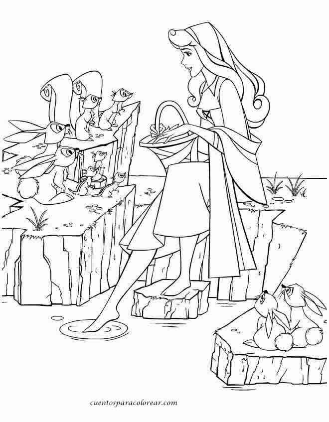 Dibujos de Aurora para colorear y pintar. Imprimir dibujos de la ...