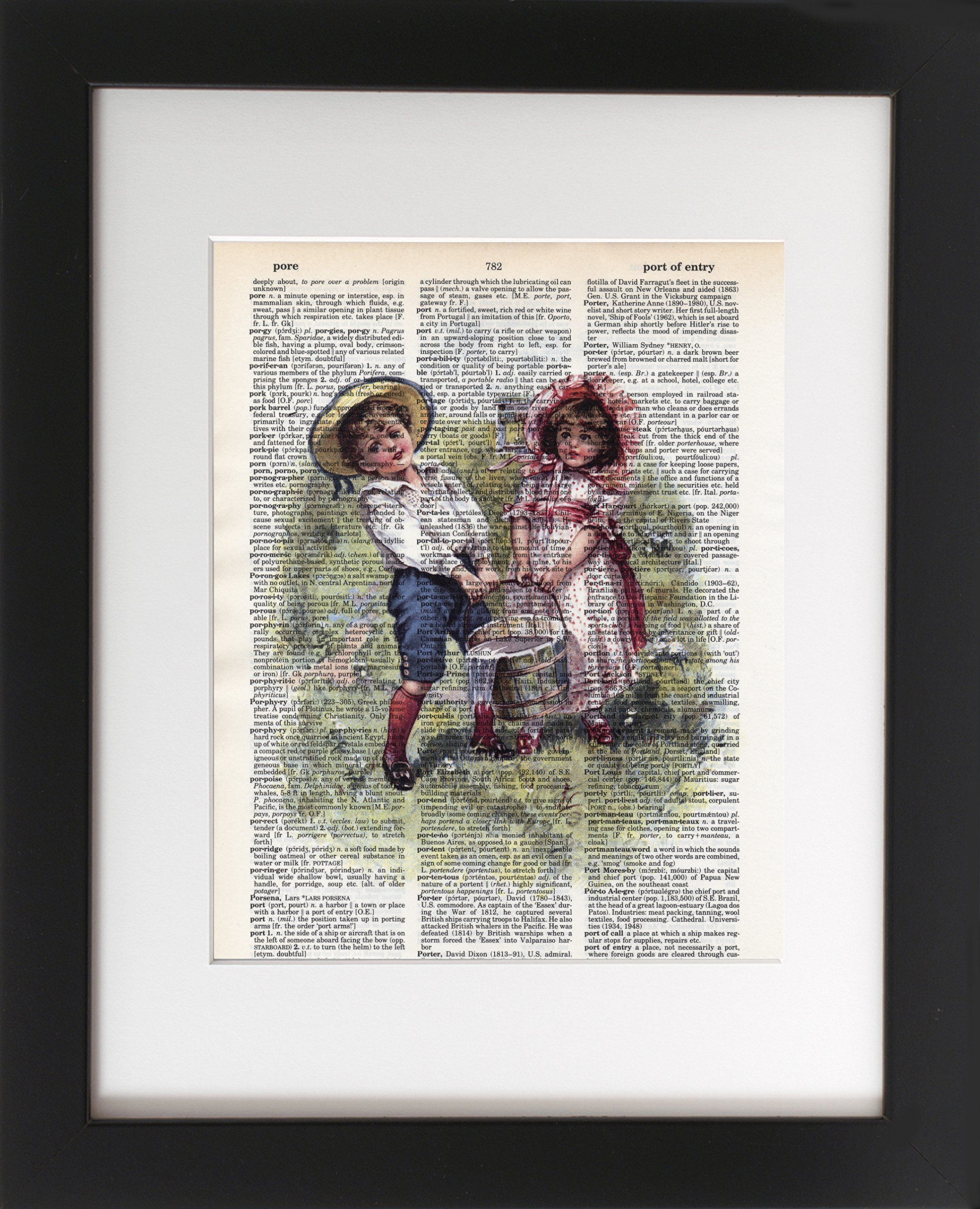 Jack and Jill - Upcycled Dictionary Art Print 8x10. - Unframed ...