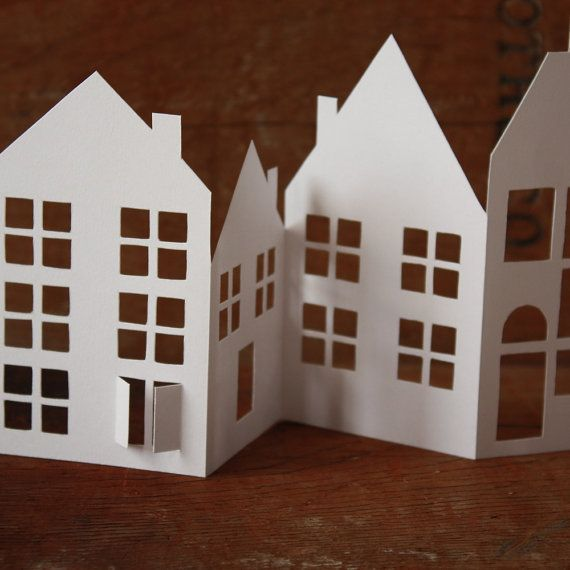 Tiny Paper Houses Papercut Card