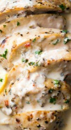 Instant Pot Low Carb Lemon Garlic Chicken #instantpotchickenrecipes