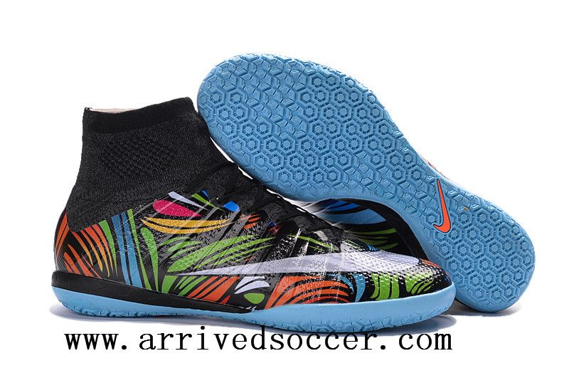 online retailer 16daa d959e Nike high-top flat top Futsal Color MercurialX Proximo Street Indoor  soccer shoes