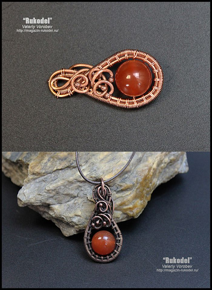 Photo of Valeriy Vorobev – wire wrap tutorial. Wire wrapped pendant. (88)