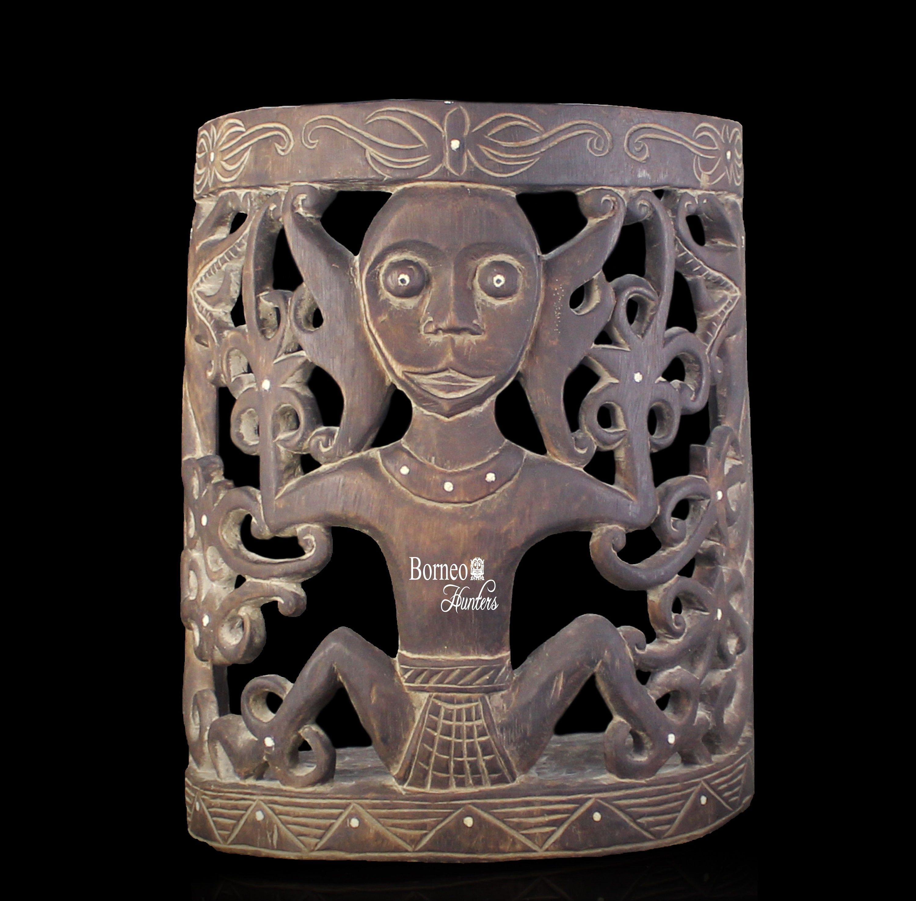 Official OLD INDONESIAN BORNEO DAYAK BABY CARRIER ARTIFACT
