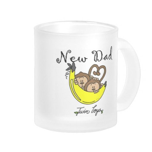 Monkeys Dad of Twin Boys Tshirts and Gifts Mug