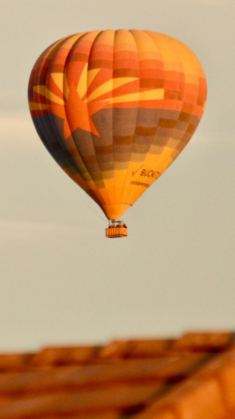 Hot Air Balloon Is Flying Over Peoria Az