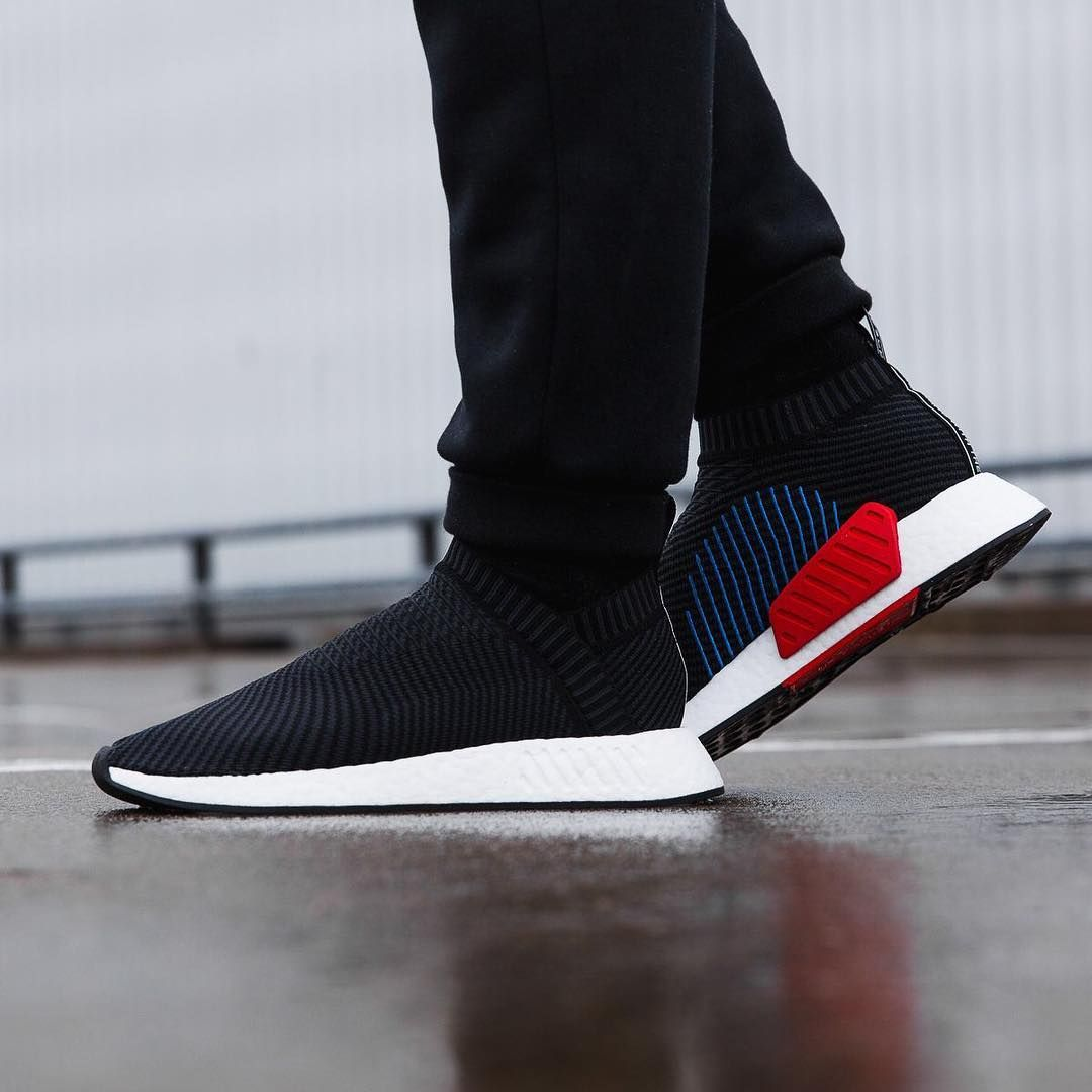 dc00a196b Adidas NMD CS2 Primeknit Black   Carbon   Red Credit   Overkill