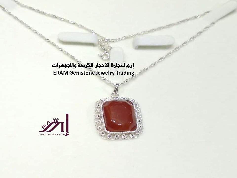عبري عن شخصيتك باقتناء اجمل قلادة نسائي عقيق يمني احمر كبدي نادر جدا Agate طبيعي 100 للعرض Dog Tag Necklace Necklace Pendant Necklace