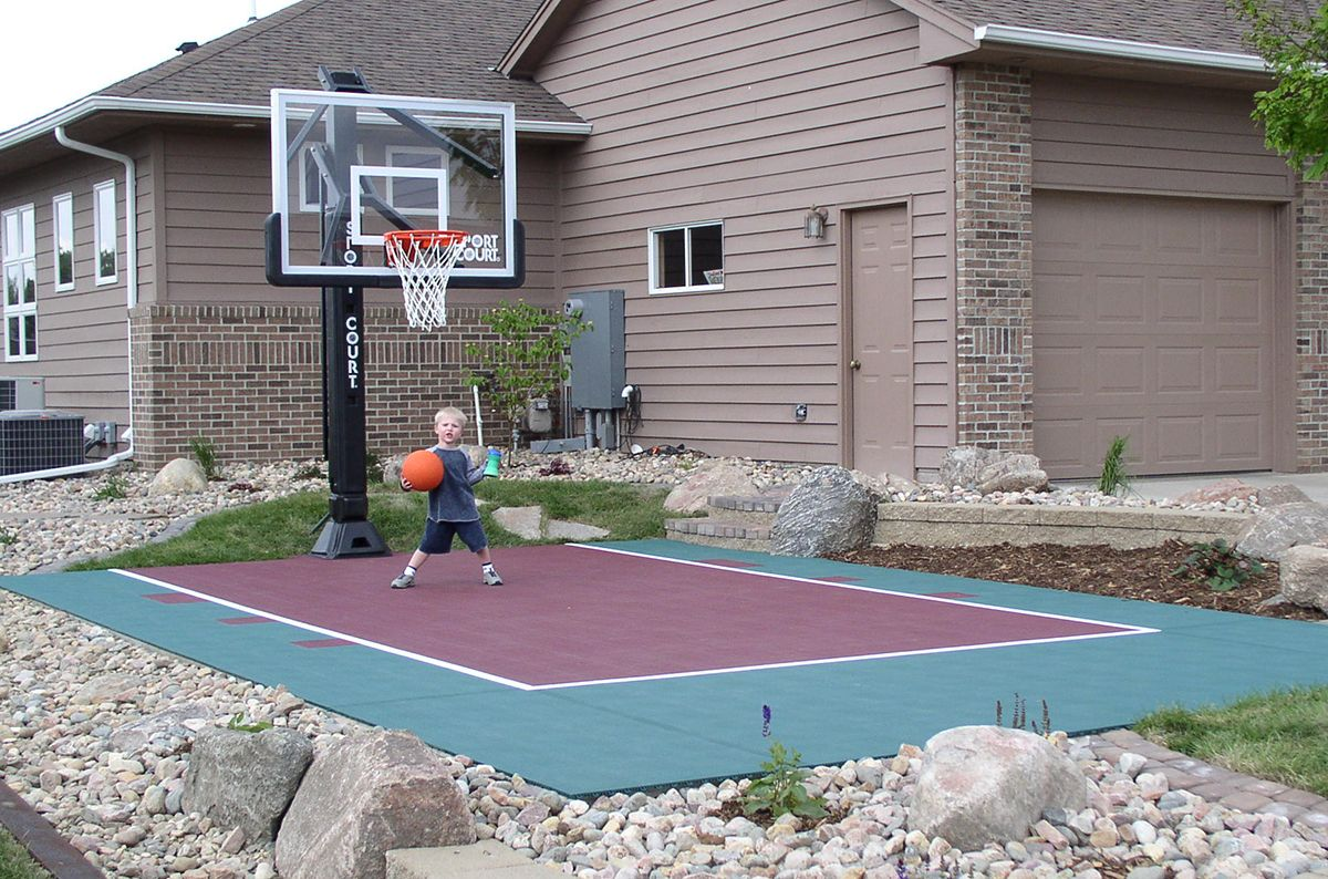 Gallery | Basketball court backyard, Backyard basketball ...