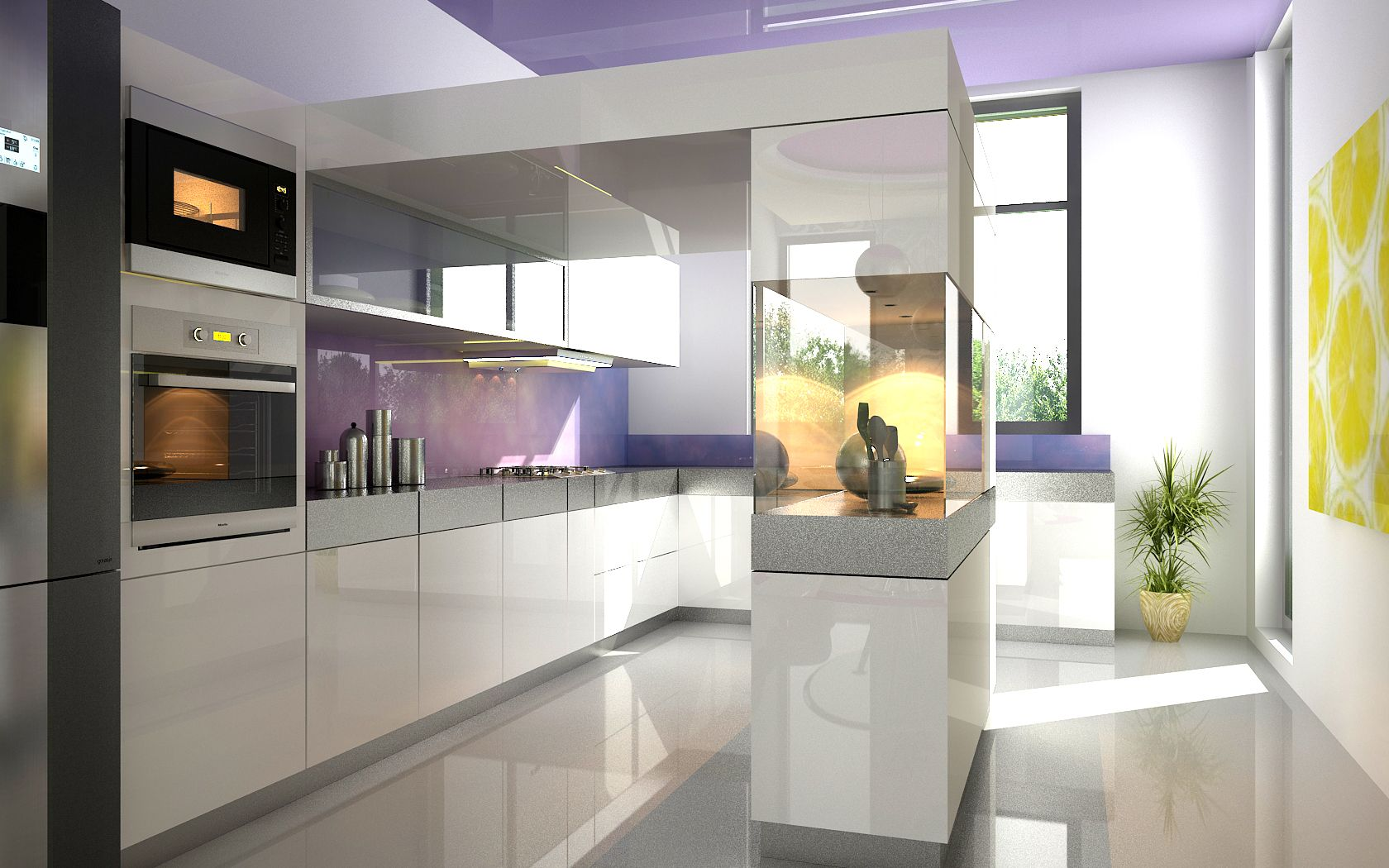 Kitchen Self Design Adorable Hightech Kitchen Very Simple And The Window Space Is Large Inspiration Design