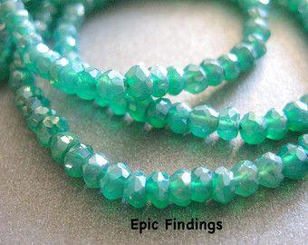 "15/"" Salmon Moss Unakite Gem Stone Loose Spacer Beads Strand Jewelry Finding DIY"