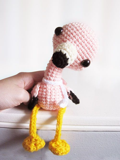 Lola the Flamingo amigurumi pattern by Sweet N' Cute Creations