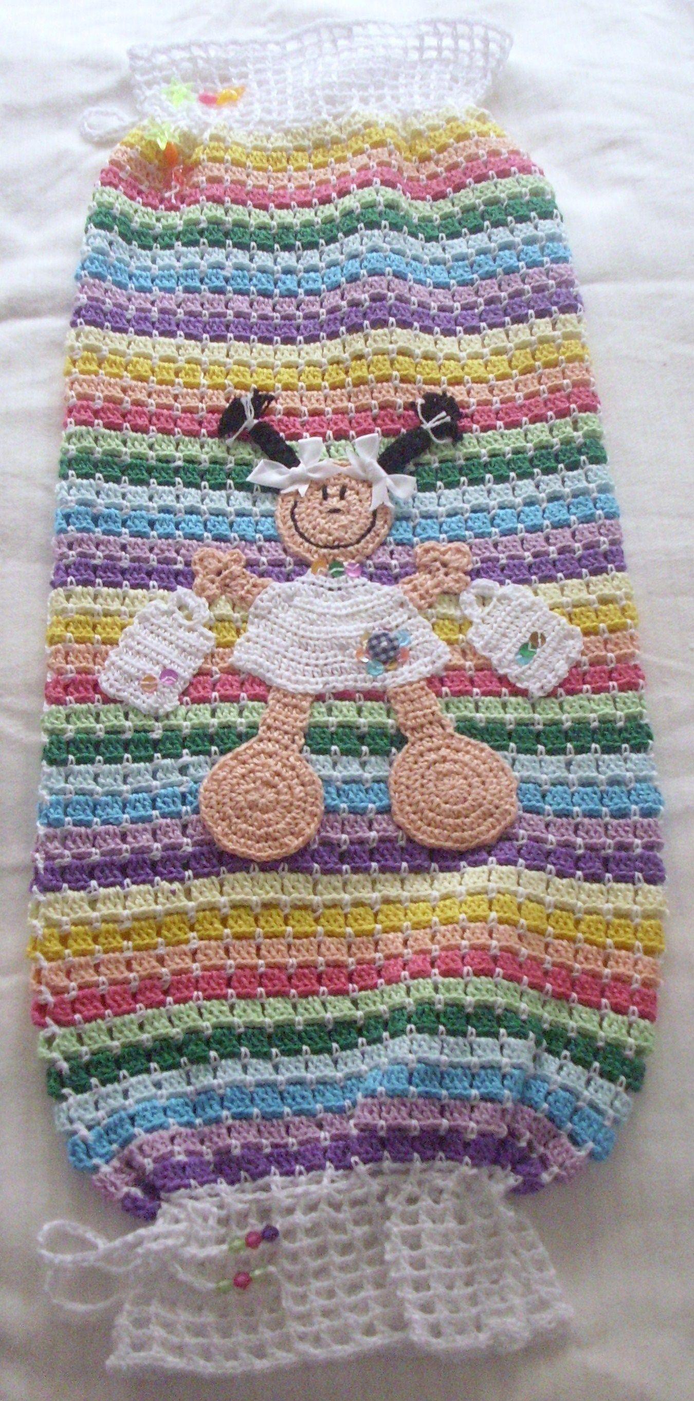 dispensador de bolsas de plastico a crochet | Crochet Home ...