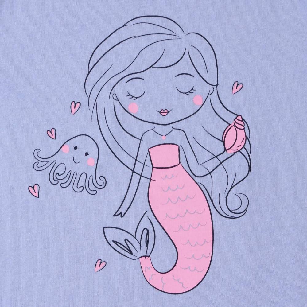 Brilliant Basics Girls Print Tee Blue BIG W Mermaid