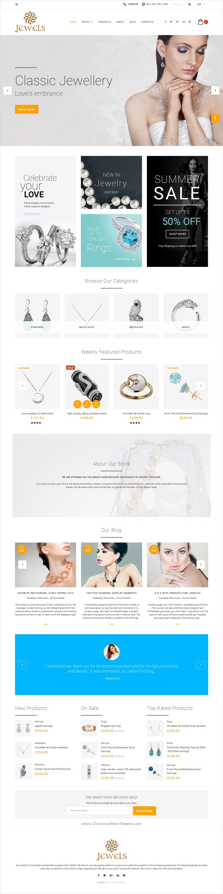 jewelry is a wonderful responsive html5 template for awesome