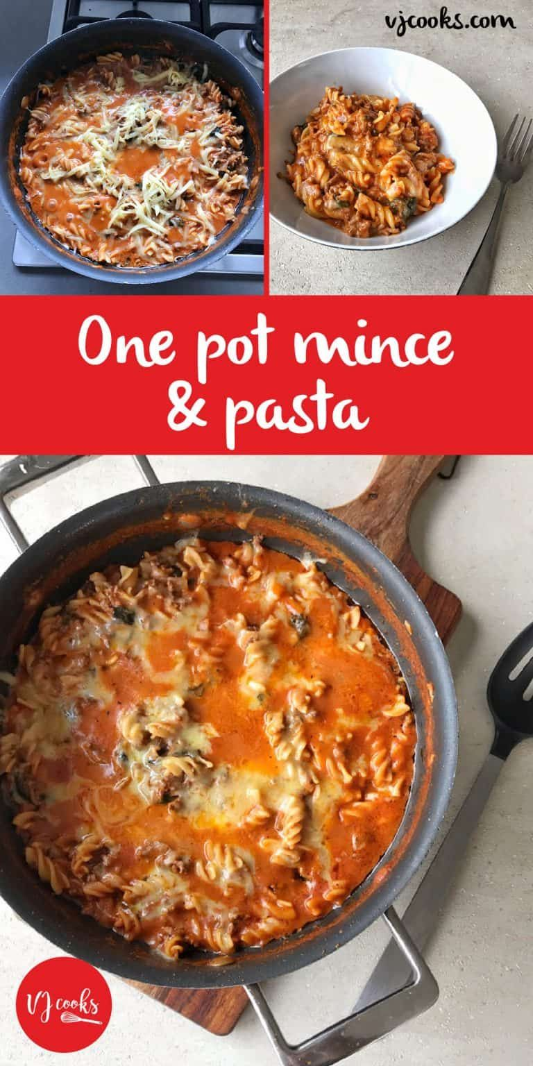 One Pot Mince And Pasta Recipe Pasta Mince Recipes Mince
