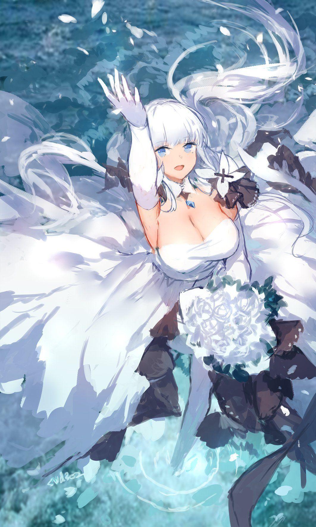 Dazzling White Illustrious AzureLane Anime art girl