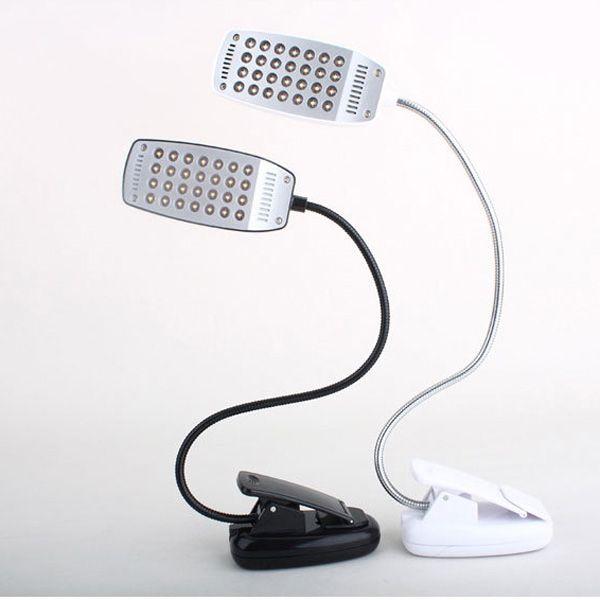 28 led flexible usb clip on reading desk lamp table light
