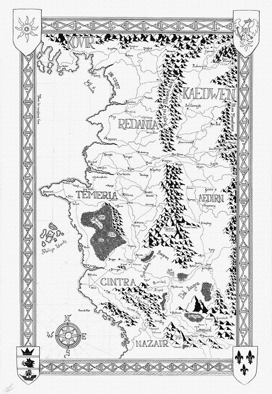 The Witcher Karte.Witcher Map Done In Ink Poster Von Dvg94 Redbubble The