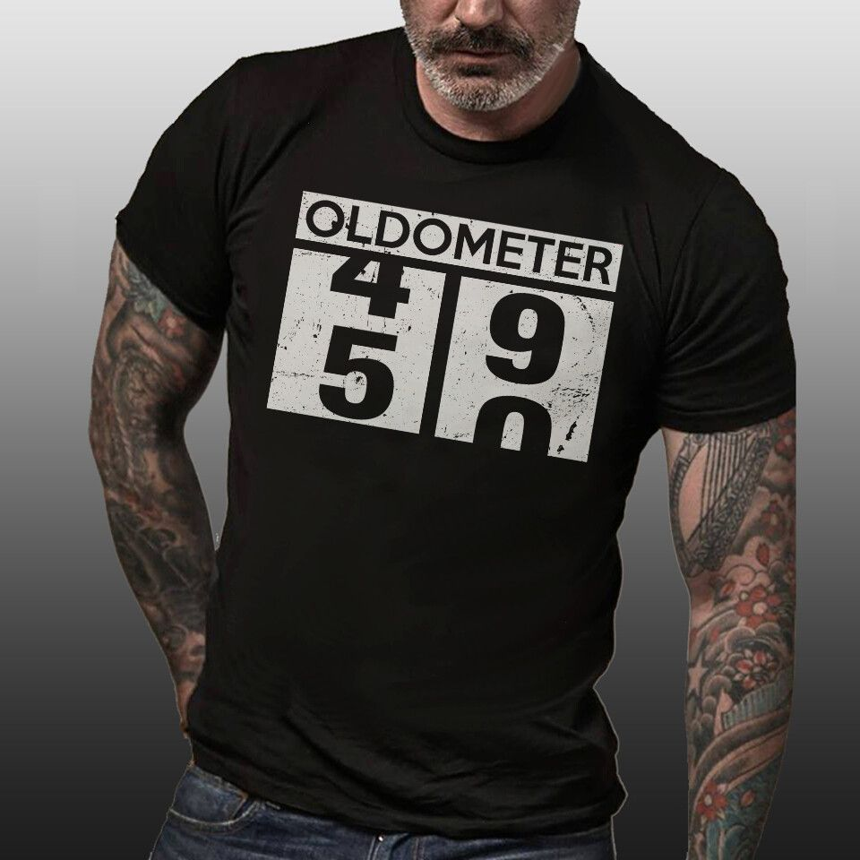 Oldometer 49-50 Shirt 50th Birthday Funny Gift Men Women