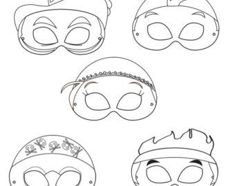 Neverland Pirates Printable Coloring Masks, printable