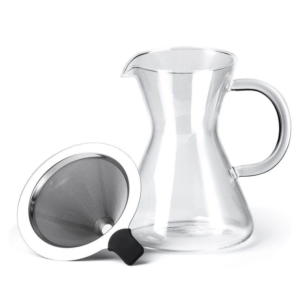 Glotoch coffee pour over brewer unlock flavor with reusable