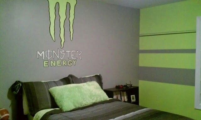 Mini Kühlschrank Monster Energy : Monster energy bedroom monster kinderzimmer