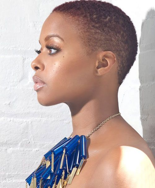 Short Natural African American Hairstyles Stunning Super Short Natural Haircut African American In 30's  5