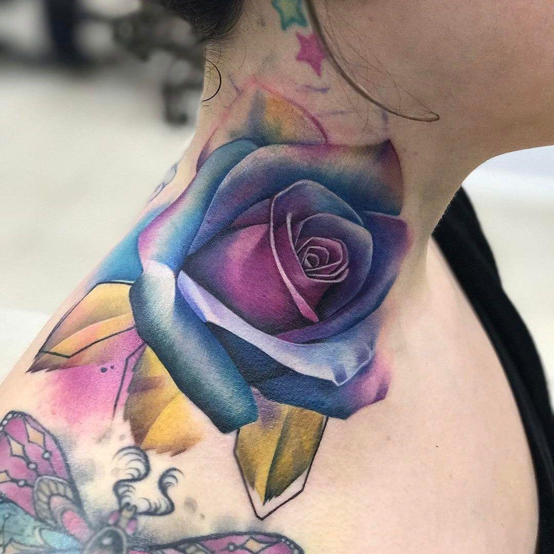 Neck Rose Tattoo Best Tattoo Design Ideas Rose Neck Tattoo Neck Tattoo Rose Tattoos
