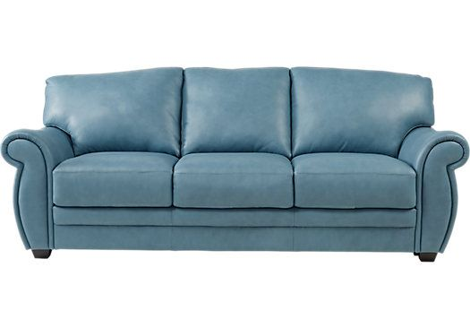 Light Blue Leather Sofa Best Collections Of Sofas And Couches