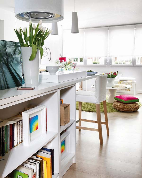 Living rooms also  refurbished square meter apartment with colorful interior rh pinterest