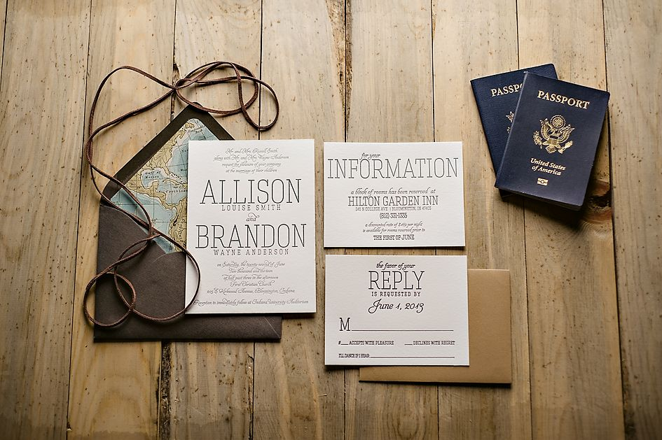travel themed wedding invitation, passport wedding invitation, Wedding invitations