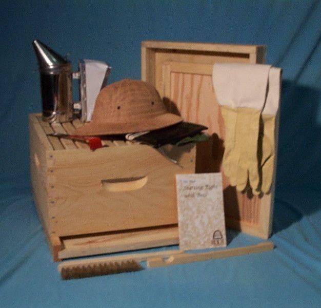 Deluxe Hive Starter Kit | Bees | Bee keeping, Bee supplies