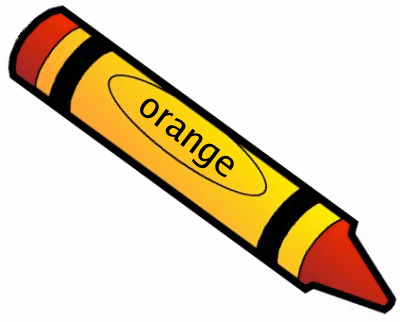 Crayon orange 1 clipart colors teaching colors for Orange colour things