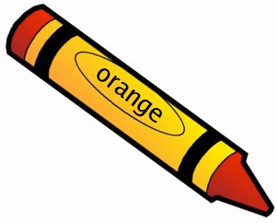 Crayon Orange 1 Clipart