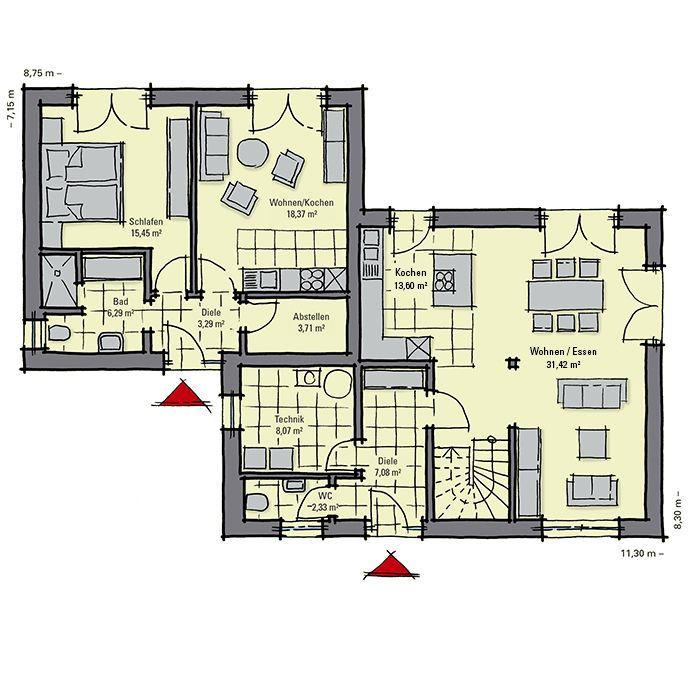 fertighaus mit einliegerwohnung gussek haus hausideen in 2019 pinterest haus. Black Bedroom Furniture Sets. Home Design Ideas