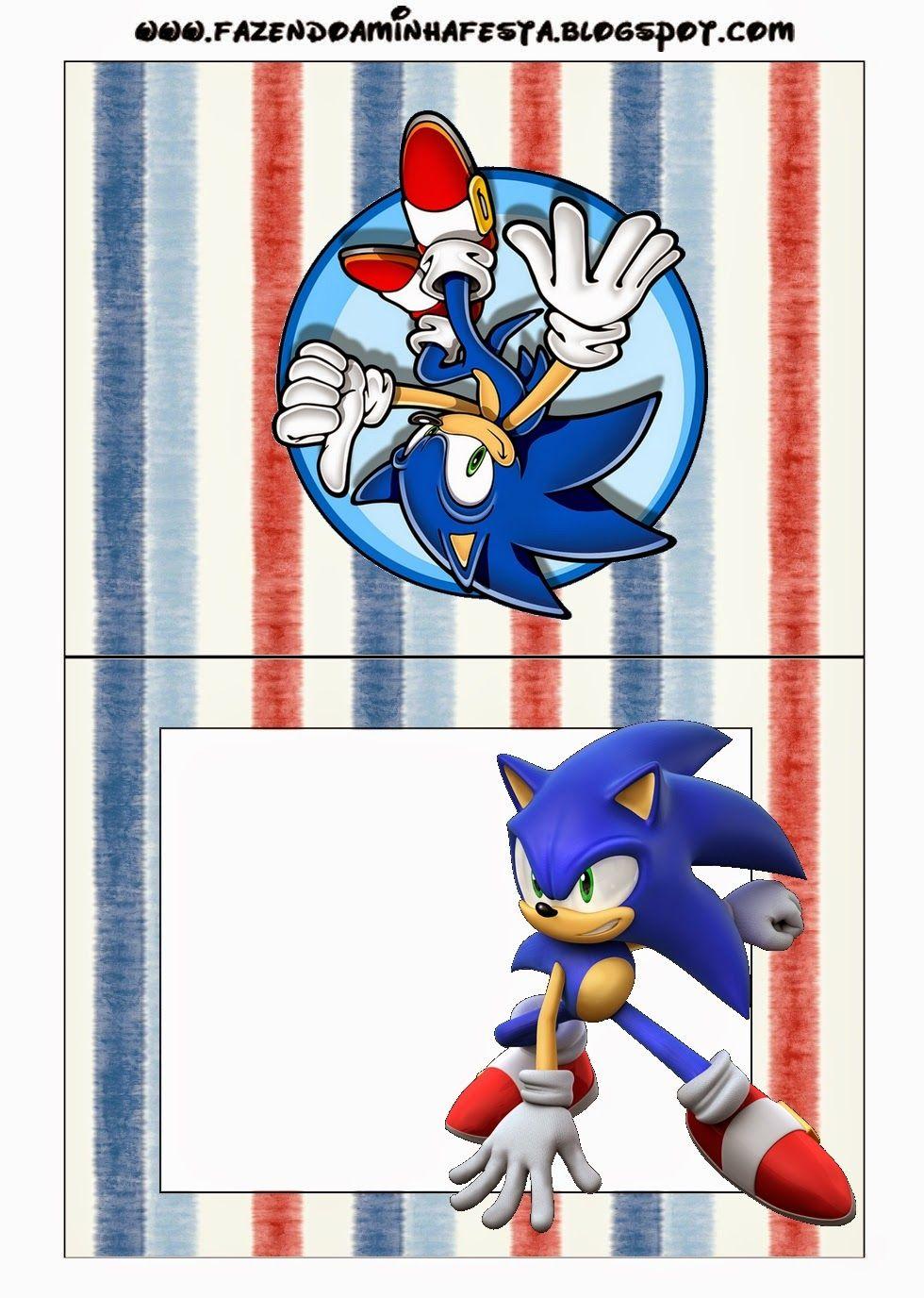 Pin De Laura En Tarjetas Sonic Cumpleaños De Sonic Fiesta