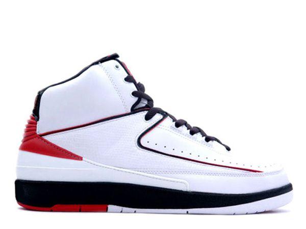 best service 9b8d7 4c411 Air Jordan Retro 2 High Shoes In White Black Red | Cheap ...