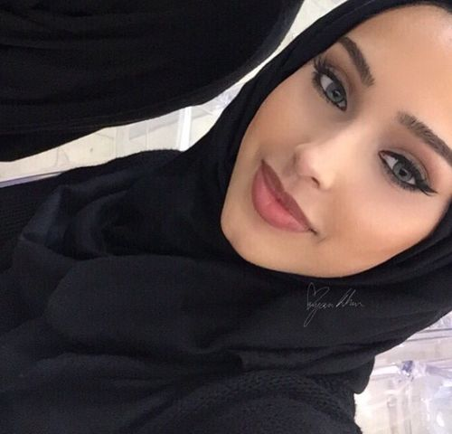 hijab, islam, and makeup image