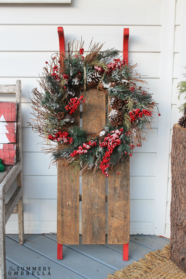 How to build a rustic holiday sled