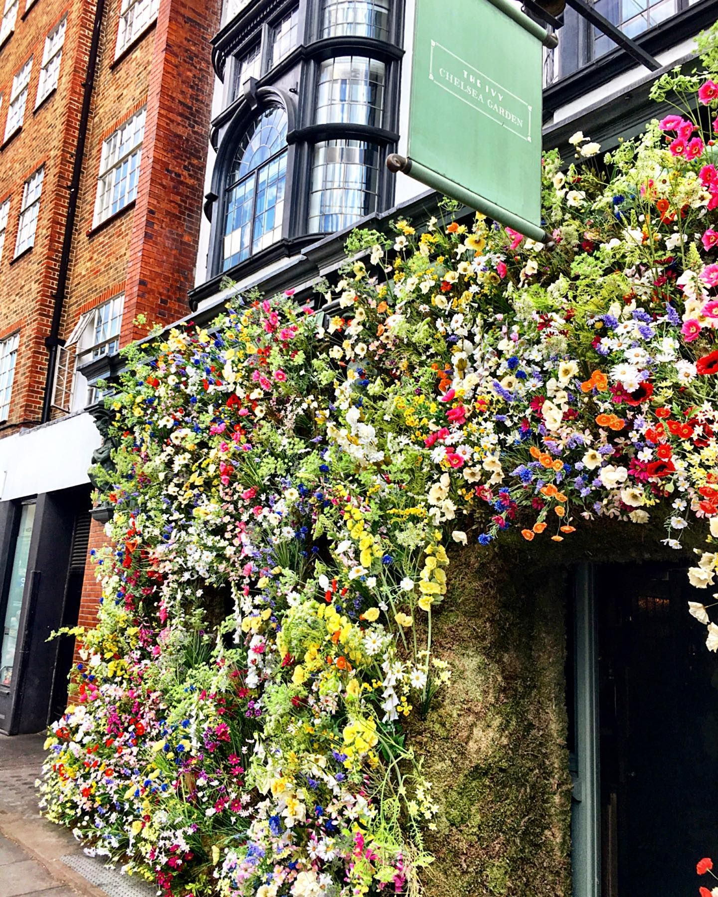The Ivy Chelsea Garden getting into the spirit of Chelsea