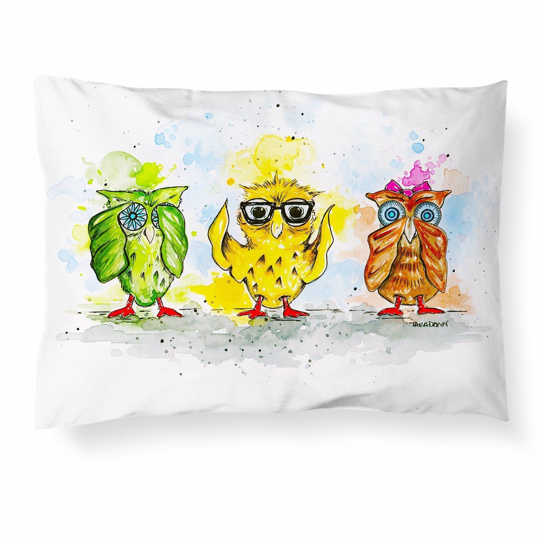 Three Little Owls Pillowcase