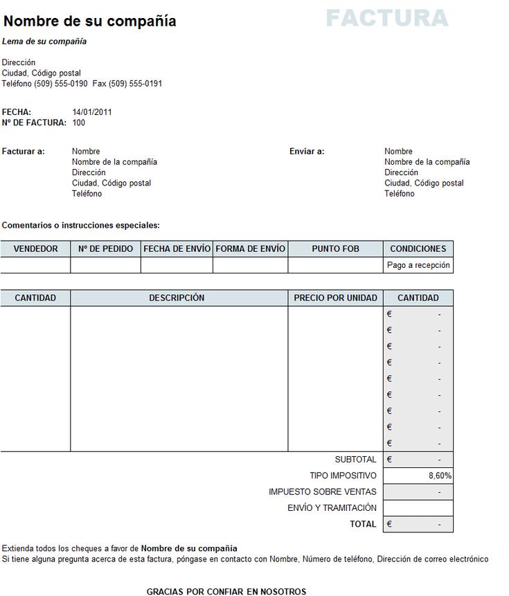 Cmo hacer una factura en Excel y en otras hojas de clculo